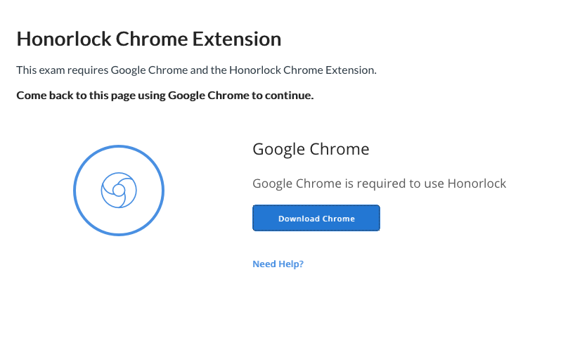 Annoying that chrome is required for Honorlock (proctoring software)