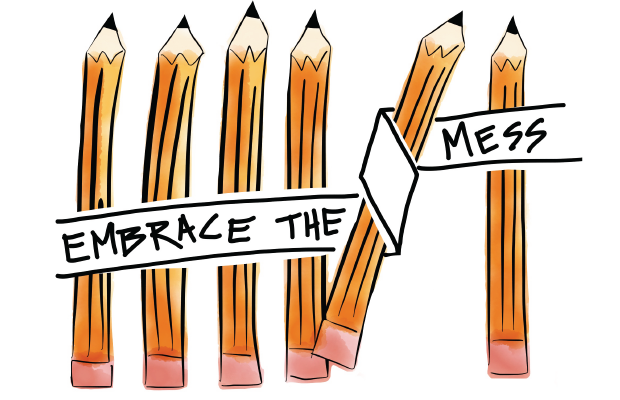 Embrace the mess. Source: https://proofbranding.com/shitty-first-drafts/